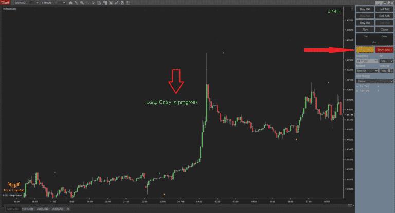 RCTrade Entry - Long term trade - Long Entry In progress 1
